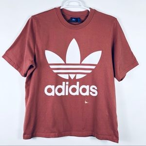 Adidas Trefoil Graphic Tee T shirt Bleach Mark L